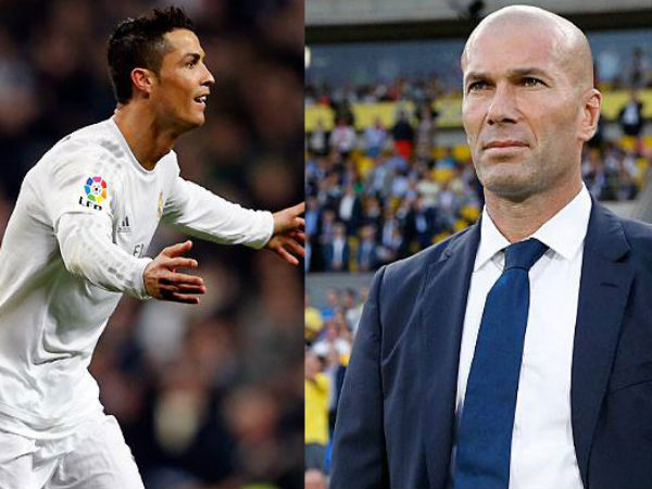 Cristiano Ronaldo (left) and Zinedine Zidane (Image courtesy: Real Madrid Twitter handle)