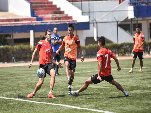 Bengaluru FC players at training (Image courtesy: Bengaluru FC Facebook page)