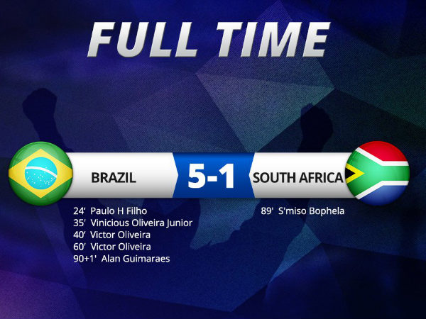Brazil Vs South Africa (Image courtesy: Indian Football Team Twitter)