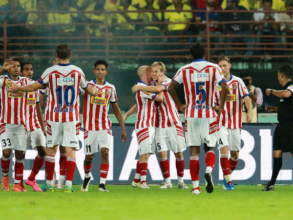 Atletico Madrid players (Image courtesy: ISL Twitter handle)