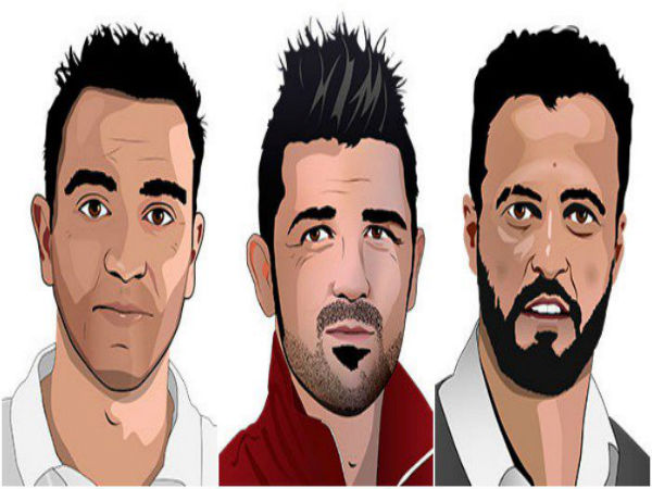 From left: Xavi, David Villa and Kiko (Image courtesy: La Liga Twitter handle)