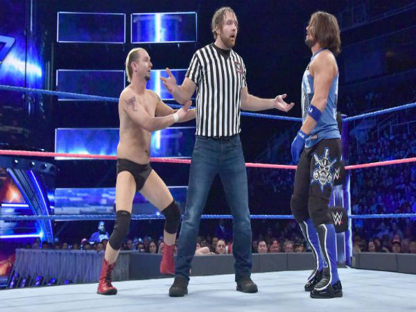Dean Ambrose acted as the special guest referee (Image courtesy: WWE)