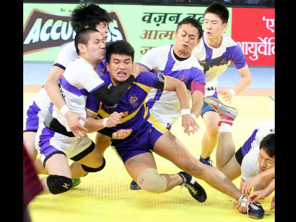 Kabaddi World Cup Thailand Edge Past Japan Set Semi Final Clash India