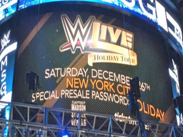 The Advertisement Of The Madison Square Garden Show (Image Courtesy:  Twitter)