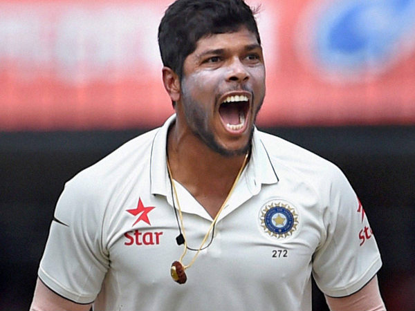 A file picture of Umesh Yadav celebrating a wicket in a Test