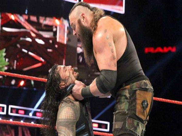Braun Strowman (right) and Roman Reigns (Image courtesy: WWE Twitter handle)