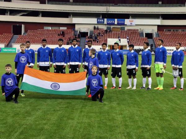 India U 17 Team Beat Belarus U 18 1