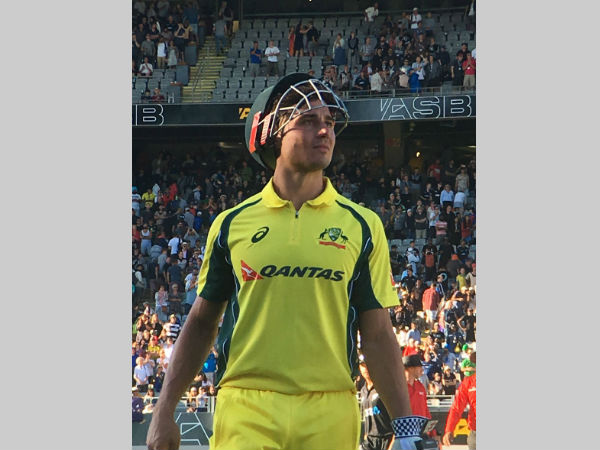 Marcus Stoinis reacts after the match. Photo from Cricket Australia's (CA) Twitter page