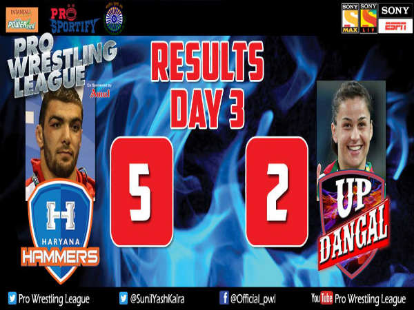 Pwl 2 Haryana Hammers Register 5 2 Win Over Up Dangal