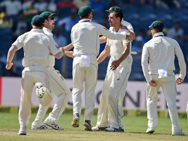 File photo: Australian players celebrate in Pune
