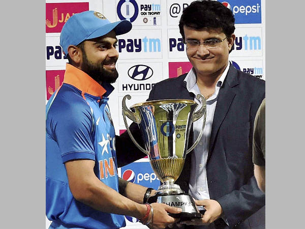 File photo: Virat Kohli (left) with Sourav Ganguly