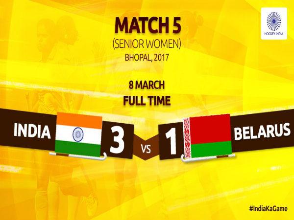 Indian Women S Hockey Team Complete 5 0 Whitewash Belarus