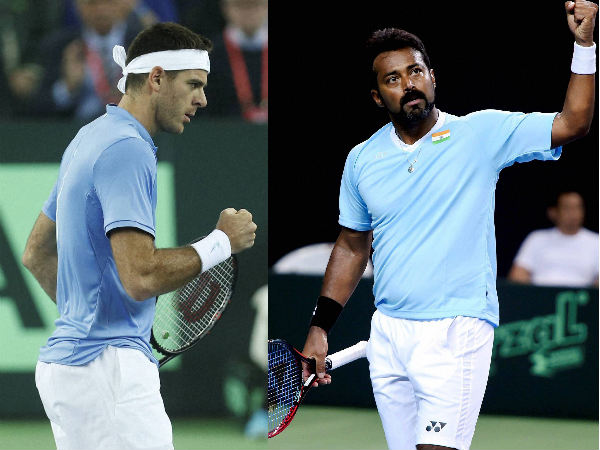 From left: Juan Martin Del Potro and Leander Paes