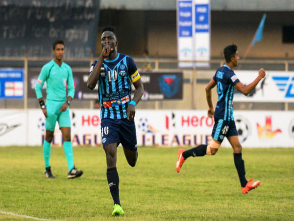 Minerva's Kareem Nurain celebrates (Image courtesy: I-League Twitter handle)