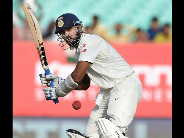 File photo: Murali Vijay completed a half century in his 50th Test