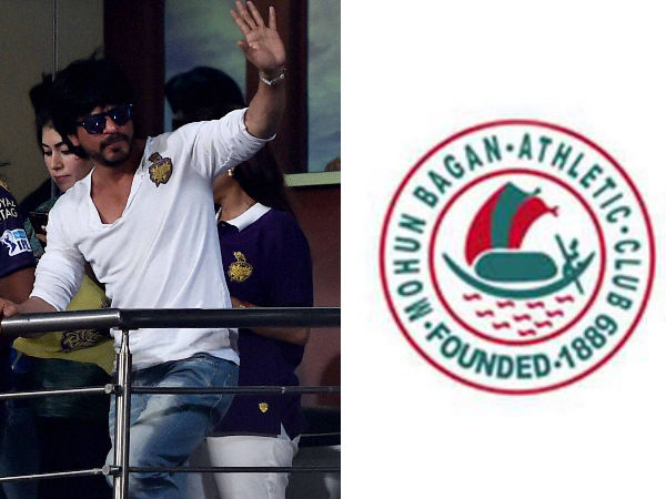 Shahrukh Khan (left) may acquire stakes in Mohun Bagan