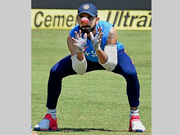 File photo: Virat Kohli takes a catch at Ranchi JSCA Stadium