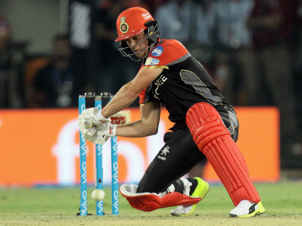 Bangalore's AB de Villiers in action against Punjab in an IPL 2017 match