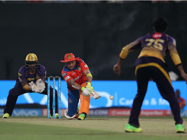 Brendon McCullum in action against KKR. Image Courtesy: BCCI