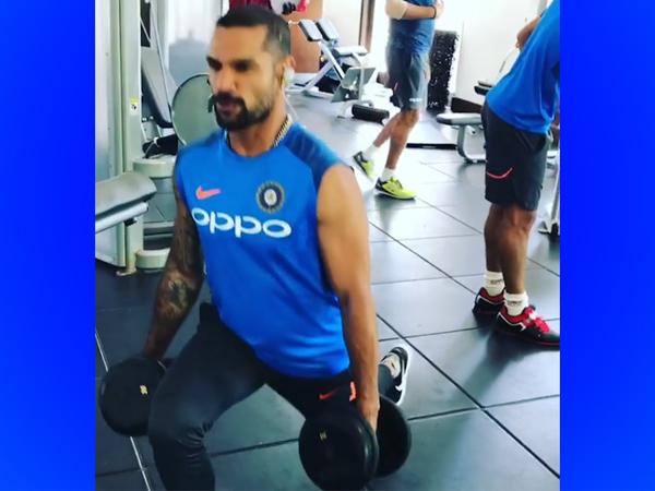 India Vs West Indies Shikhar Dhawan Trains At Gym With Hardik Pandya Virat Kohli