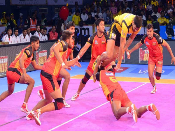 Pro Kabaddi League 2017 Bengaluru Bulls Sail Over Telugu Titans