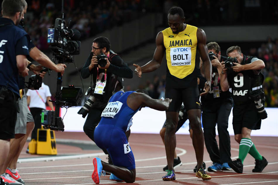 from Giovanni gay stuns bolt in 100 meters