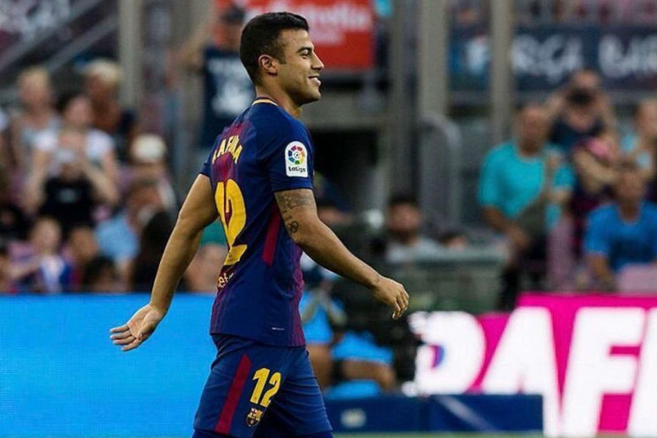 File Photo: Barcelona midfielder Rafinha Alcantara