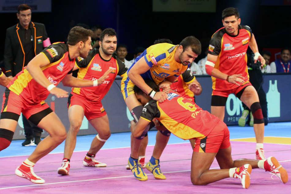 Pro Kabaddi League 2017 Bengaluru Bulls Register Thrilling Win Tamil Thalaivas