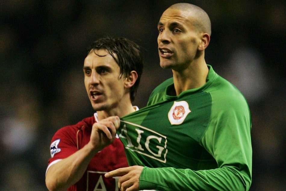Gary Neville Trolls Rio Ferdinand Manchester United Great Boxing Career