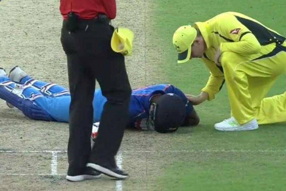 Watch Hardik Pandya Gets Nasty Blow On The Field Escapes Unhurt