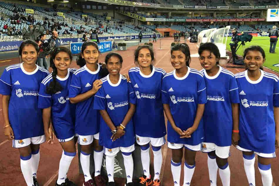 Jharkhand Girls Train At Real Sociedad