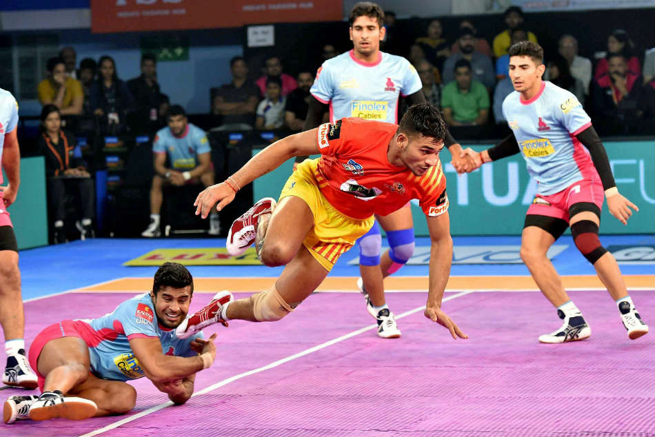 Image result for Gujarat Fortunegiants thrashes Jaipur Pink Panthers in Pro Kabaddi League