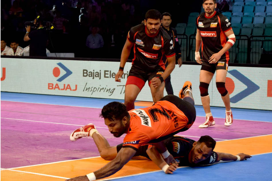Pkl 2017 U Mumba Beat Bengaluru Bulls End Delhi Leg With Massive Win