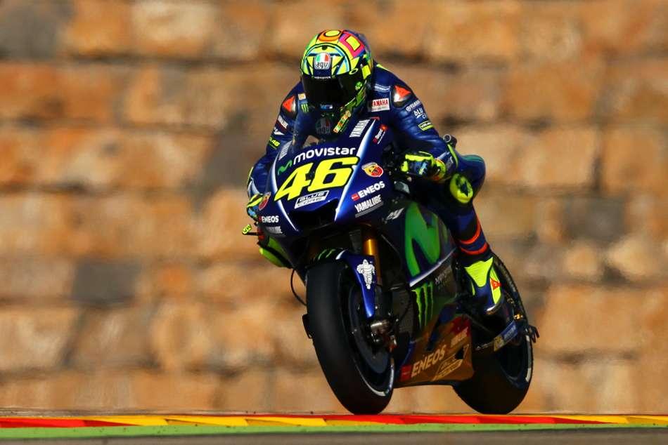 Valentino Rossi Front Row Maverick Vinales Aragon Gp