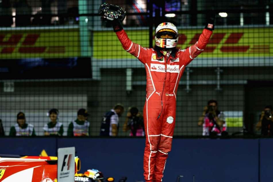 Sebastian Vettel Singapore Grand Prix Ferrari