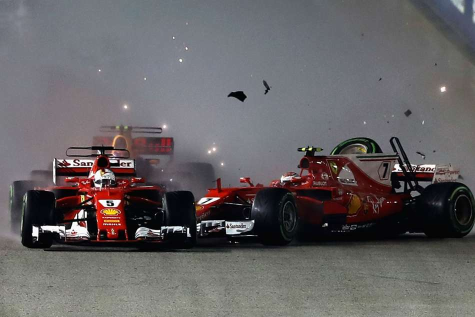I Didnt See That Much Vettel Blindsided By Singapore Crash