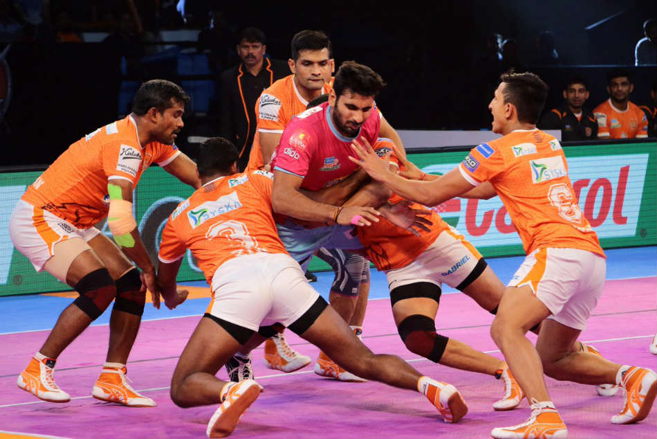 Pkl 2017 Puneri Paltan Hammer Jaipur Pink Panthers 38 15