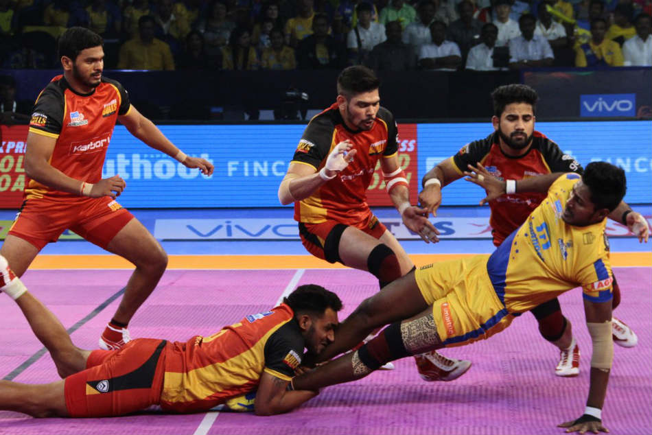 Pkl 2017 Bengaluru Bulls Beat Tamil Thalaivas In Battle Bottom Placed Teams