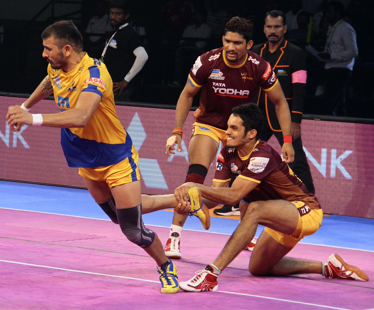 Pro Kabaddi League Up Yoddha Cruise An Easy Win Over Tamil Thalaivas