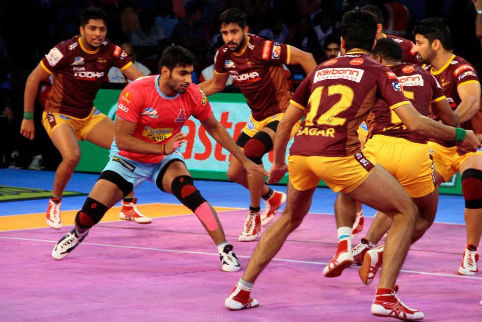Pro Kabaddi League 2017 Up Yoddha Hammer Jaipur Pink Panthers
