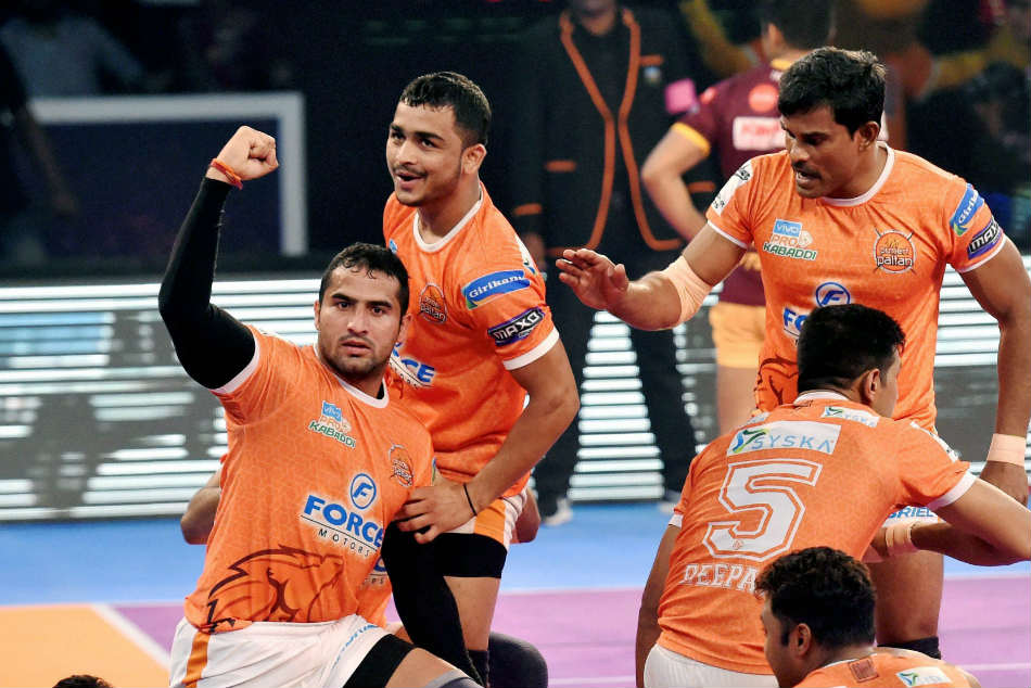 Pkl 2017 Puneri Paltan Win Thriller Against Up Yoddha First Eliminator