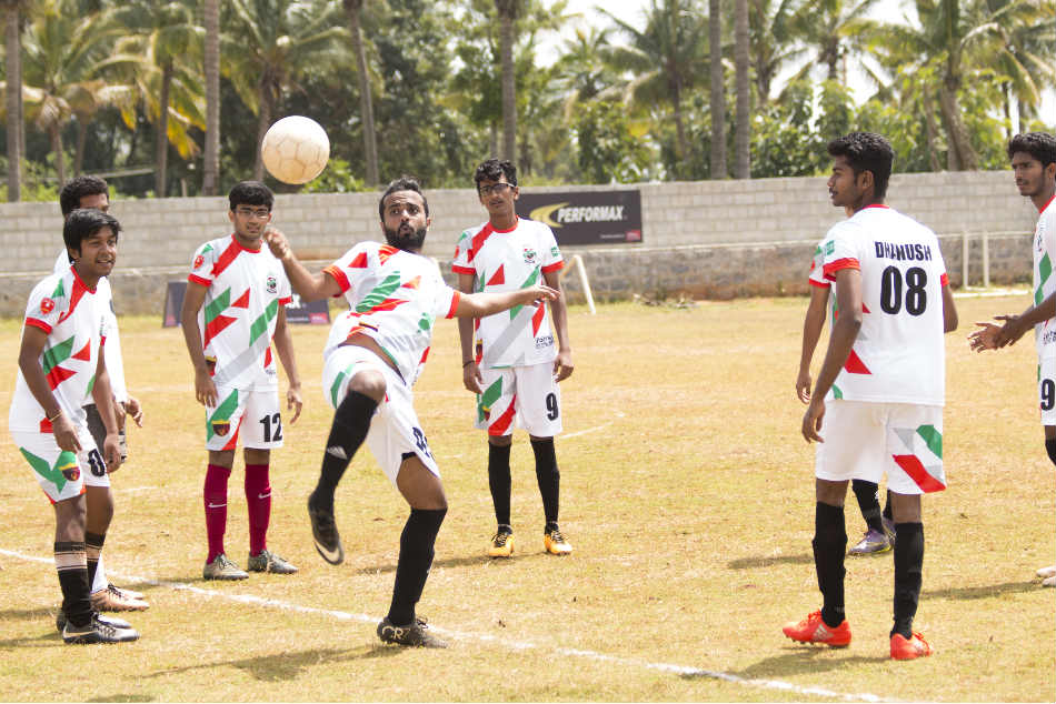 Rebels FC players during a training session