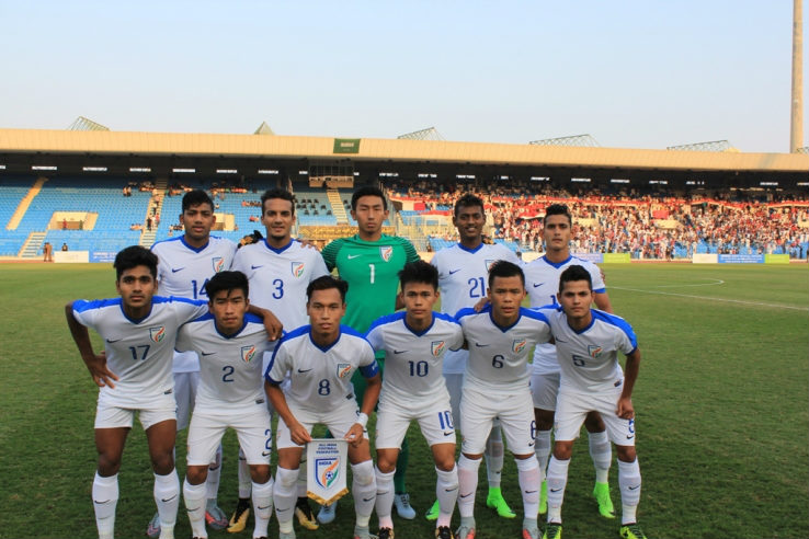 The Indian Under-19 national team.
