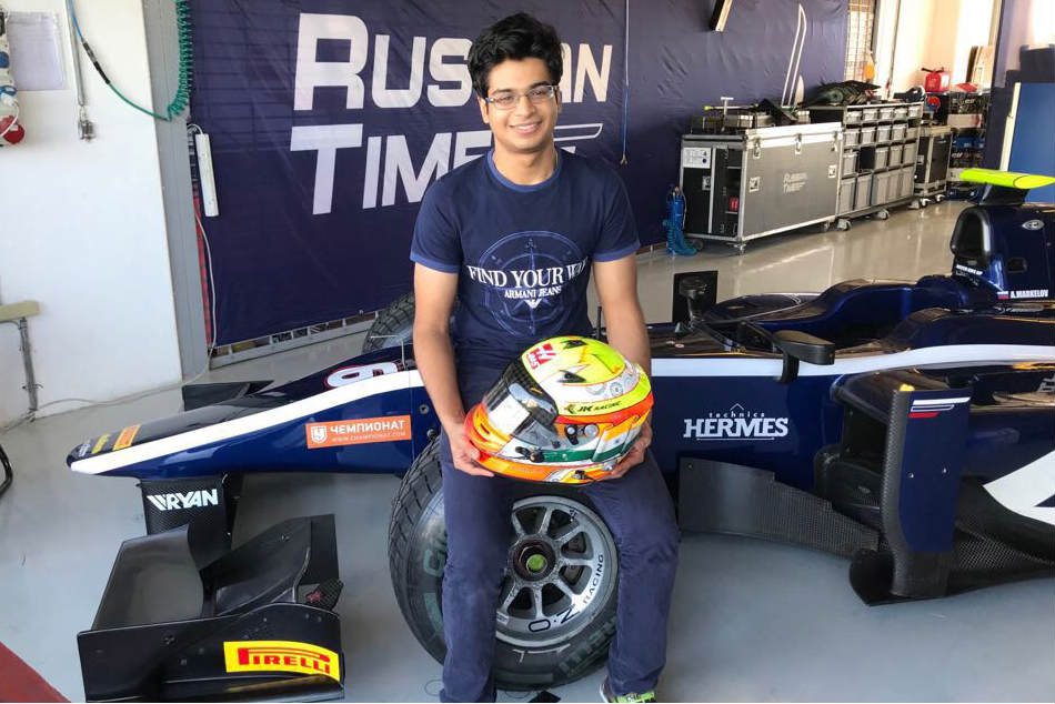 Arjun Maini at the Russian Time garage