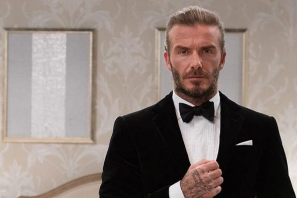 David Beckham clad in DB line suit