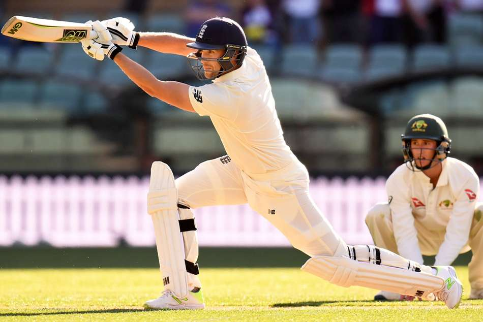 Dawid Malan of England en route to his 61 against Cricket Australia XI in Adelaide on Wednesday