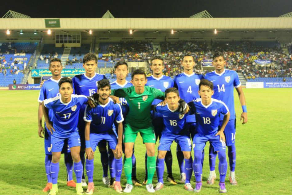 India U19 go down to Saudi Arabia (Image Courtesy: IndianFootball twitter)