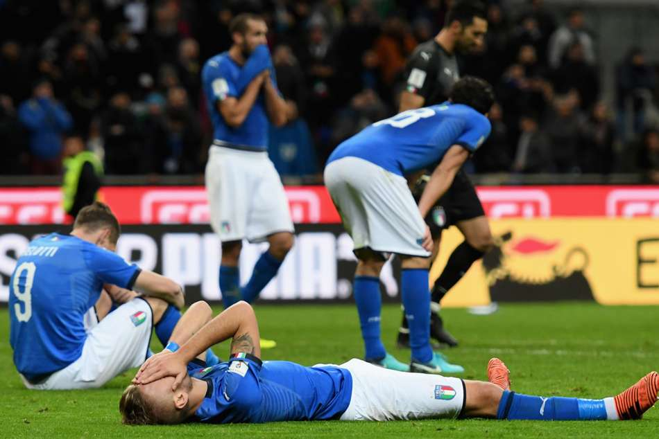Italy players devastated after World Cup failure