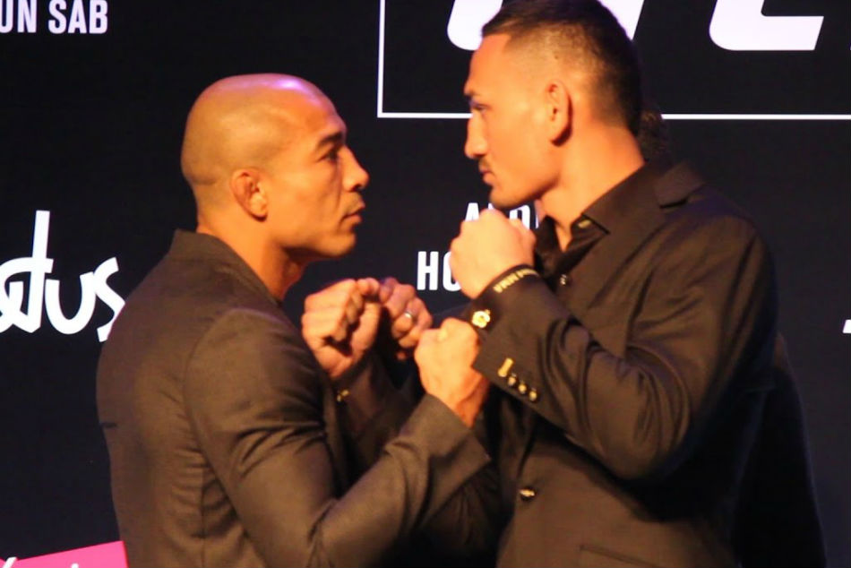 Jose Aldo (left) and Max Holloway
