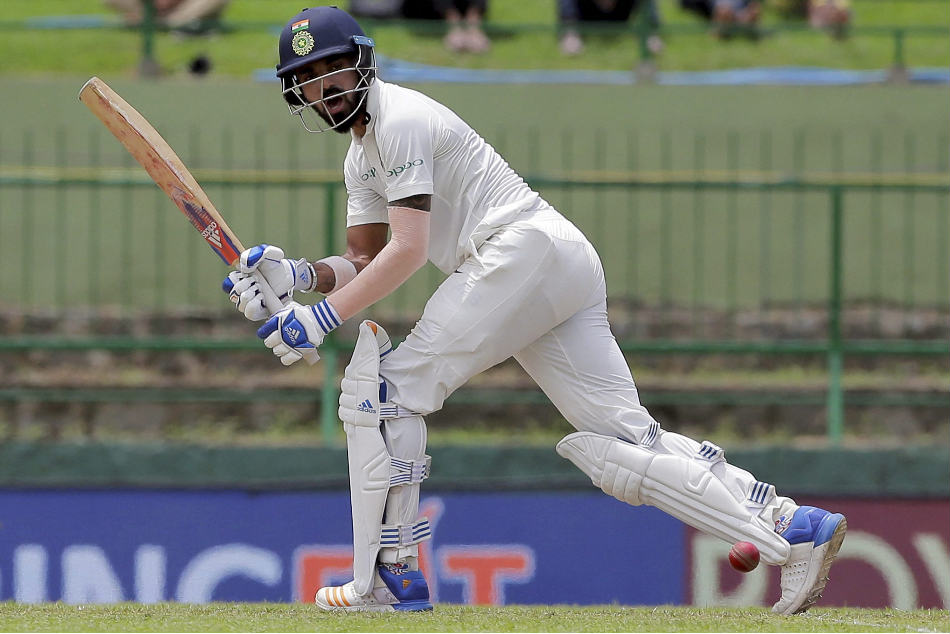 Karnataka's KL Rahul was run out for 92 against Delhi during their Ranji Trophy match